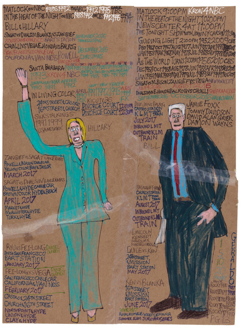 , 'Hillary and Bill,' 2016, Creativity Explored