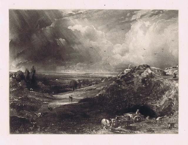 John Constable, 'A Heath (Hampstead Heath, Stormy Noon - Sand Diggers)'', 1830, Bernard Jacobson Gallery