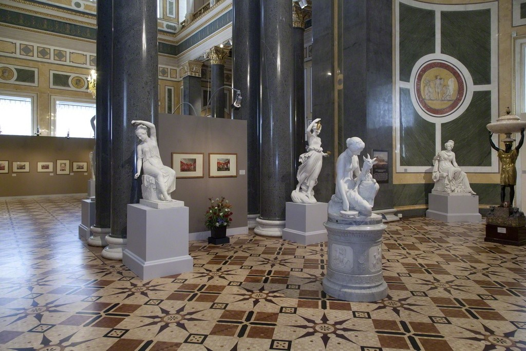"Installation view: ""Created by a Hand with but a Chisel Armed…"" Sculpture in St Petersburg's Palaces in the 19th Century"