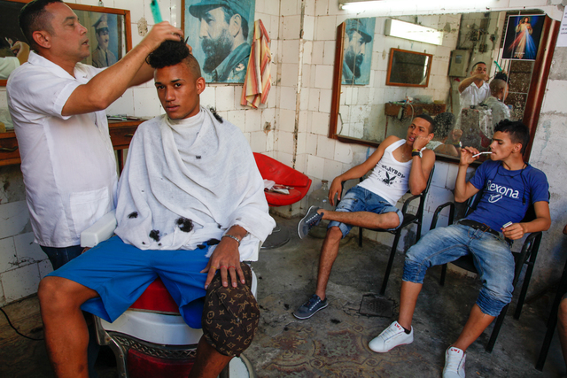 , 'Miguel at a barber shop, Havana,' , Yeelen Gallery