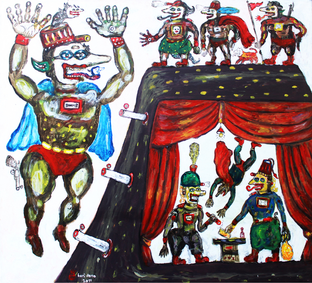 , 'The Negotiating Guards,' 2011, The Columns Gallery