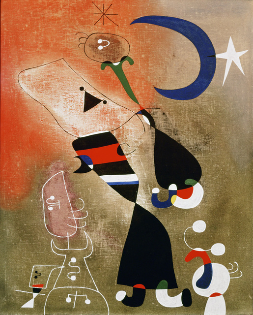 Joan Miró, 'Women and Bird in the Moonlight (Femmes, oiseau au clair de lune),' 1949, Erich Lessing Culture and Fine Arts Archive
