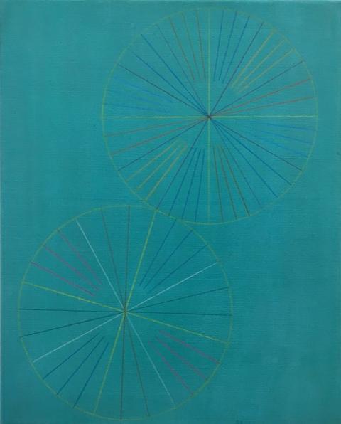 Marta Marcé, 'Tabula Rasa (Crayon/Turquoise)', 2019, Maddox Arts