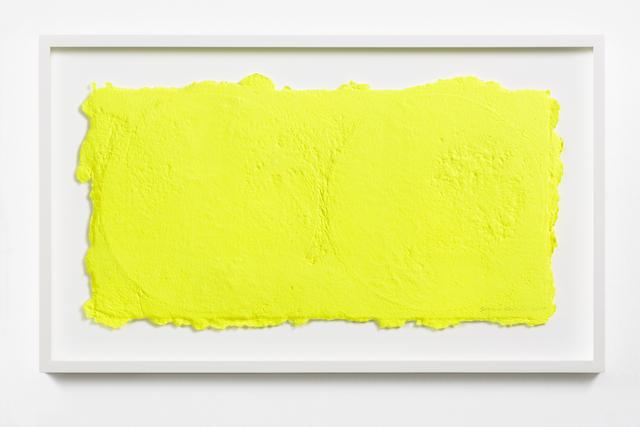 , 'Yellow on Two Vinyls 1,' 2015, STPI