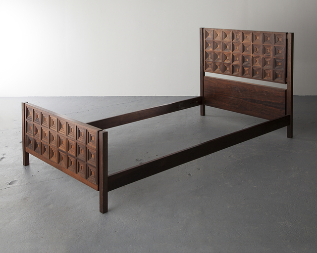 , 'Single Bed with Diamond-patterned Headboard,' 1969, R & Company
