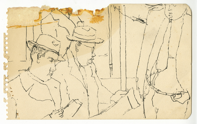 , 'Two Men in Hats Reading,' ca. 1940, Timothy Taylor