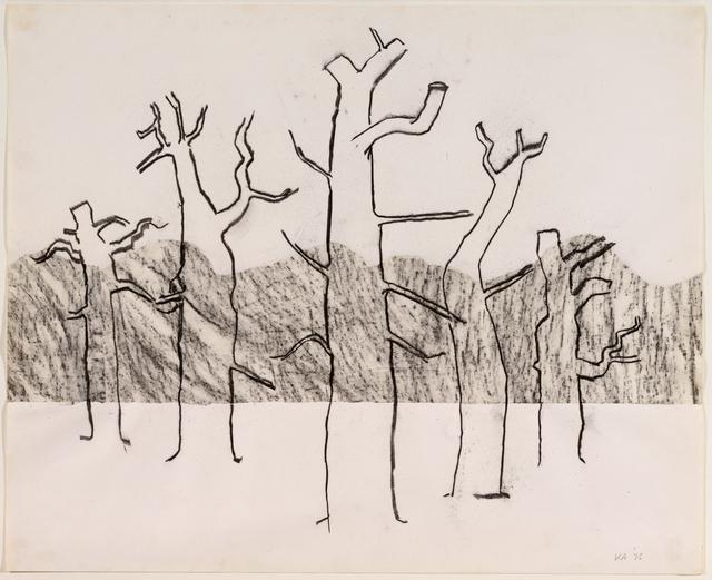 , 'Five Trees (Line),  Richmond Park ,' 1975, New Art Centre