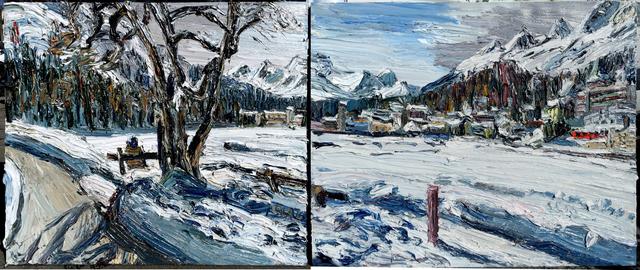 , 'St. Moritz (Diptychon),' 2016, GALERIE URS REICHLIN