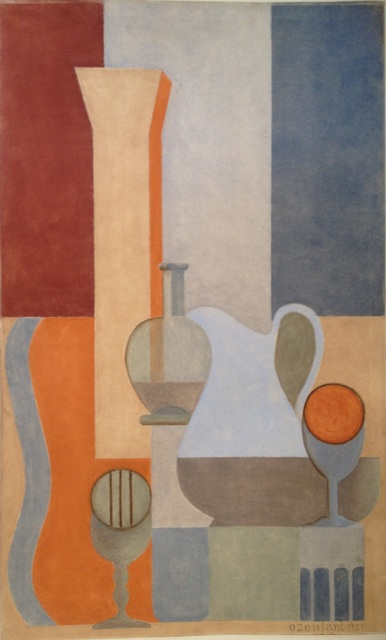 ", 'Nature morte puriste - Etude pour ""Accords"" ou ""Fugues'',' 1921, Galerie Zlotowski"