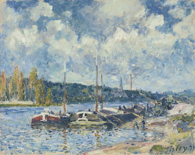 Alfred Sisley, 'La Seine à Bougival', 1877, Richard Green Gallery