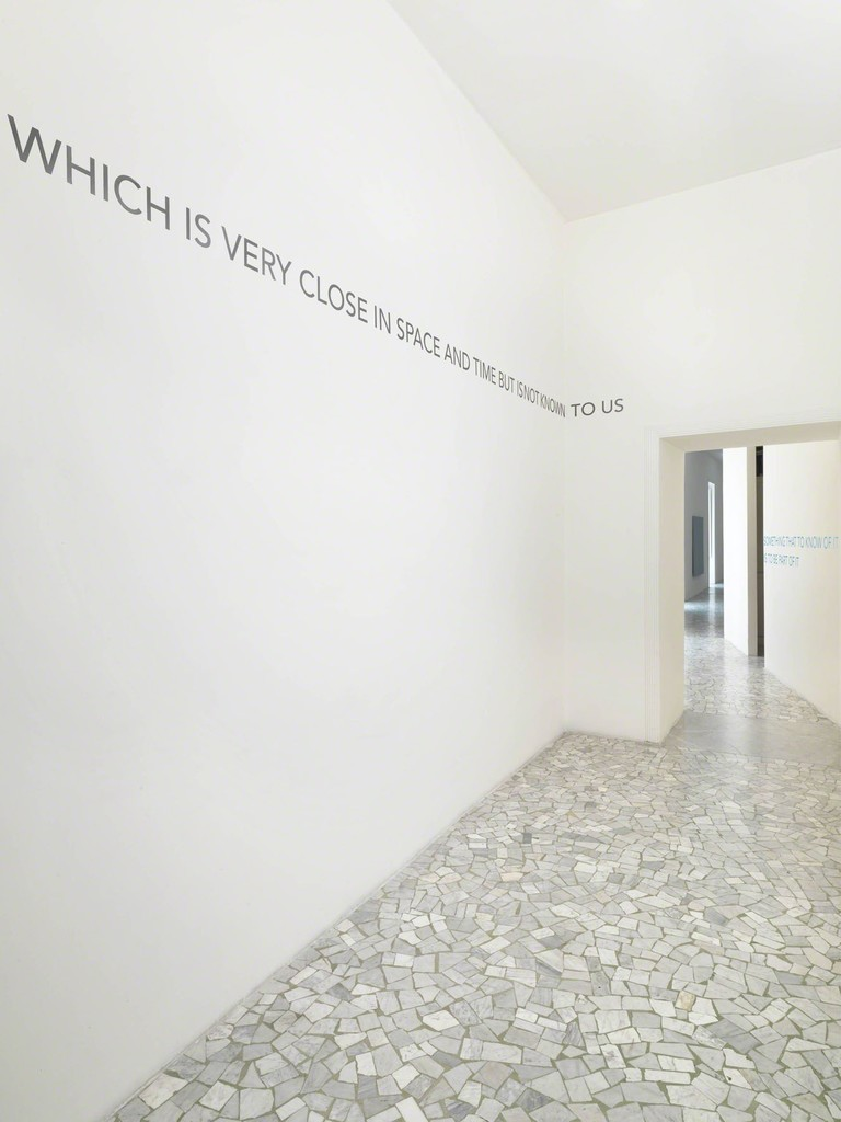 Robert Barry - troublesome - partial view of the exhibition - March 2011 - Galleria Alfonso Artiaco, Napoli