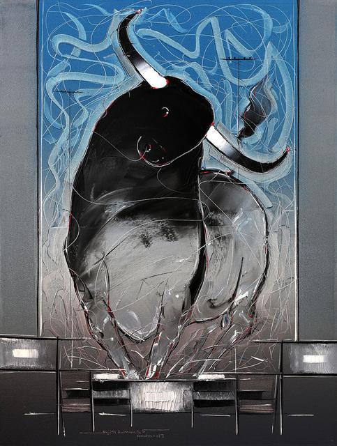 Sujth Kumar G.S. Mandya, 'Bull Painting - 53', 2013, MayinArt
