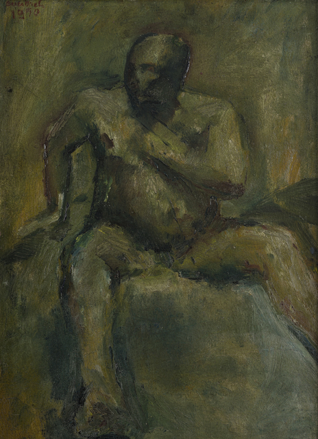 Frank Auerbach, 'Seated Man', 1950, Tanya Baxter Contemporary