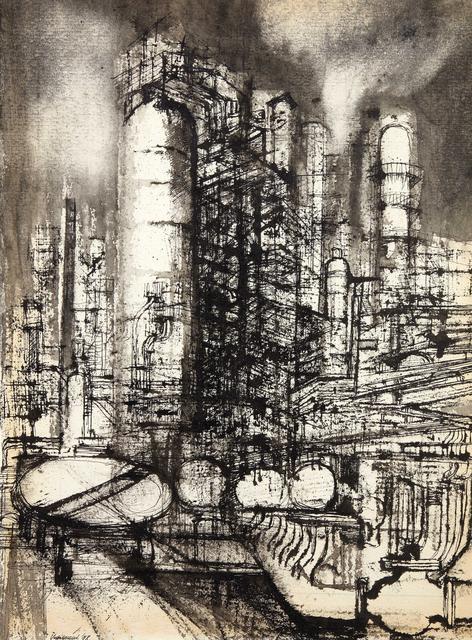 Lorenzo Vespignani, 'Refinery', executed in 1958, Pandolfini