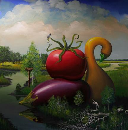 Bill Mead, 'Eggplant, Tomato, and Squash', 2014, Zenith Gallery