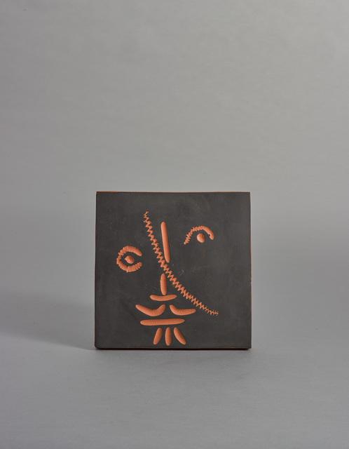 Pablo Picasso, 'Visage au trat oblique (A.R. 588)', 1968, Other, Terre da faïence plaque, painted in black, Sotheby's