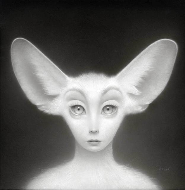 Travis Louie, 'The Fennec Fox Spirit', 2019, Painting, Acrylic on board, Haven Gallery