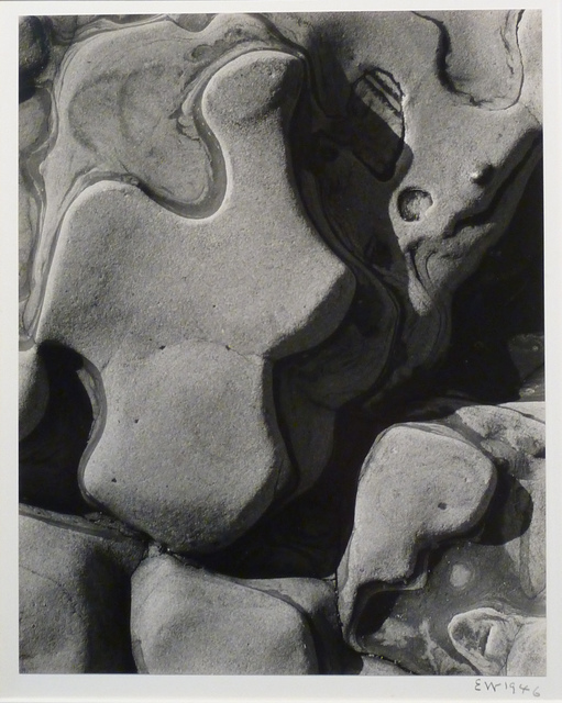 , 'Eroded Rock, Point Lobos (Sandstone Erosion),' 1946, Weston Gallery