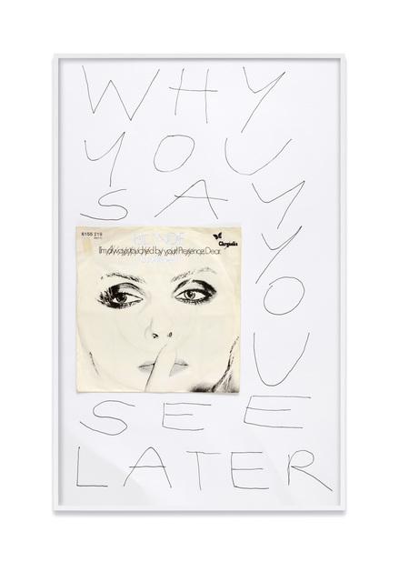 , 'A poet's question by Robert Grenier (Blondie / Poet's Problem),' 2018, Kadel Willborn