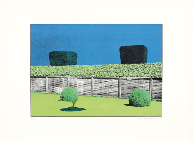 , 'The Garden Suite V (Fence & hedge with two bushes),' 1970, Bernard Jacobson Gallery