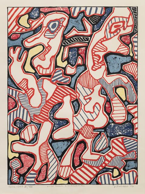 Jean Dubuffet, 'Affairements', 1964, Print, Color Lithograph, Hindman