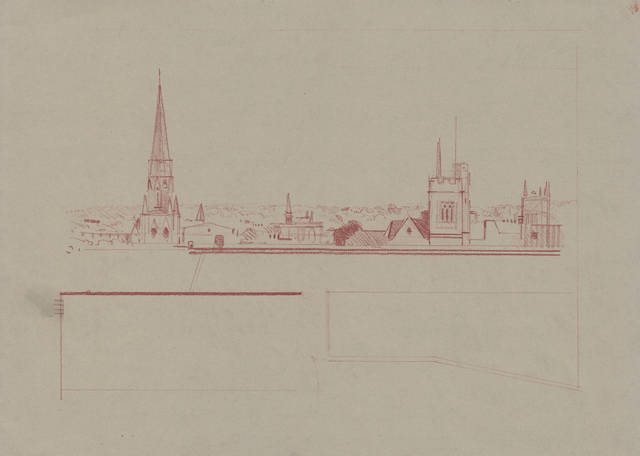 , 'Oxford Drawing #18 Oxford Skyline Study 5,' 2017, Sarah Wiseman Gallery