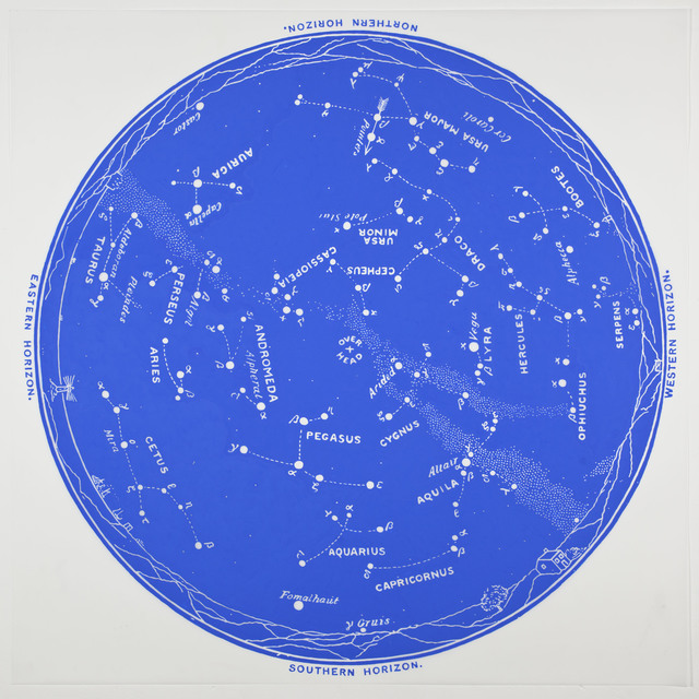 , 'Star Chart (Cobalt),' 2013, Erin Cluley Gallery