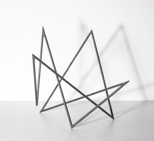 , 'Trait 76 noir,' 2015, Galerie Marie-Robin
