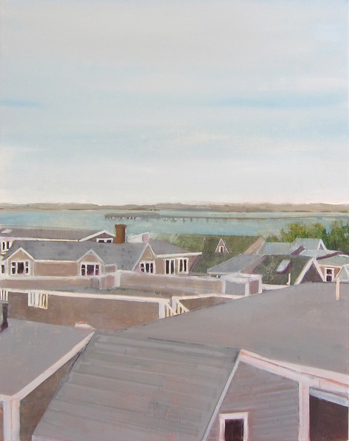 , 'West End Roofs,' 2017, Albert Merola Gallery
