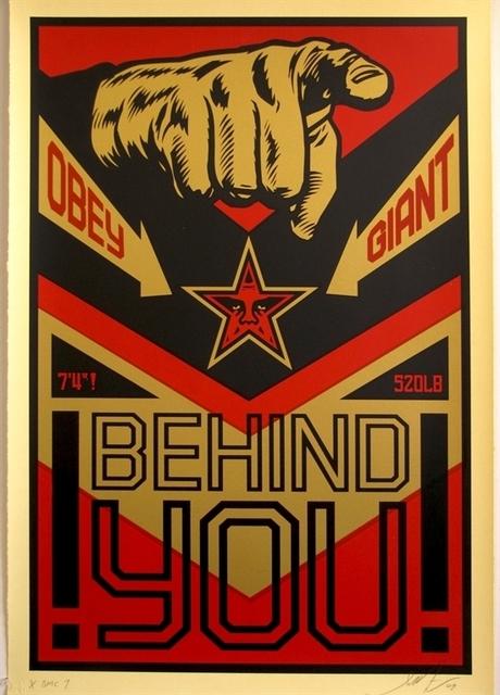 Shepard Fairey (OBEY), 'Behind You', 2009, AYNAC Gallery