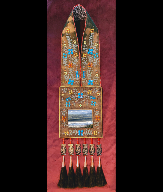 Barry Ace, 'Bandolier for Gichi-aazhoogami (Lake Huron) (Great Crosswaters Sea)', 2019, Kinsman Robinson Galleries