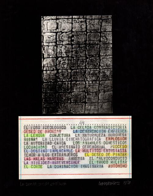 Leandro Katz, 'El Foso Ideológico', 1970, Henrique Faria Fine Art