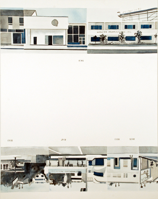 , 'Ed Ruscha's Every Building on the Sunset Strip, #24,' 2016, Morgan Lehman Gallery