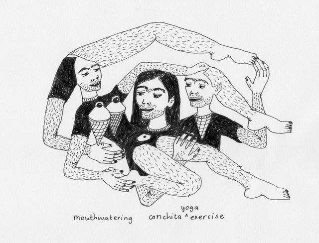 , 'Mouthwatering Conchita Yoga Exercise,' 2015, Lychee One