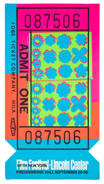 Andy Warhol, 'Film Festival, Lincoln Center', 1962, Hindman