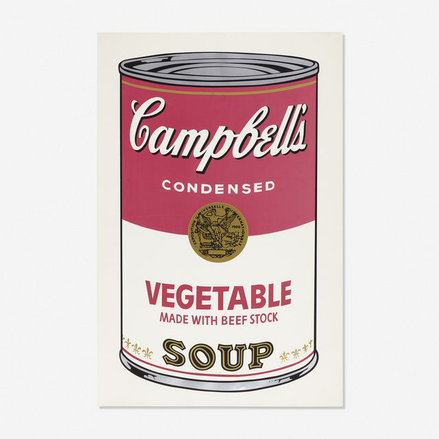 Andy Warhol, 'Vegetable Soup Can from Campbell's Soup I', 1968, Rago