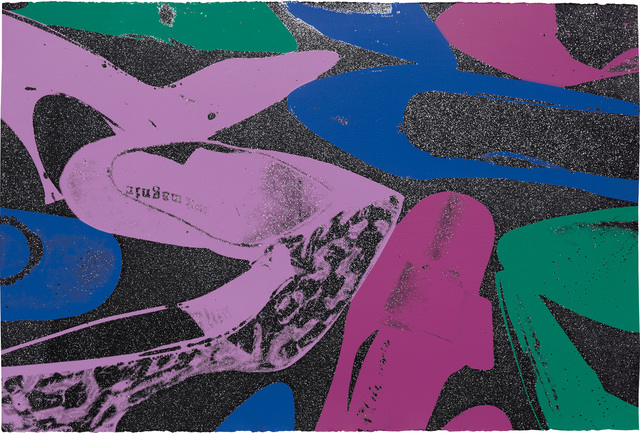 Andy Warhol, 'Shoes', 1980, Print, Screenprint in colours with diamond dust, on Arches Aquarelle Cold Pressed paper, the full sheet., Phillips