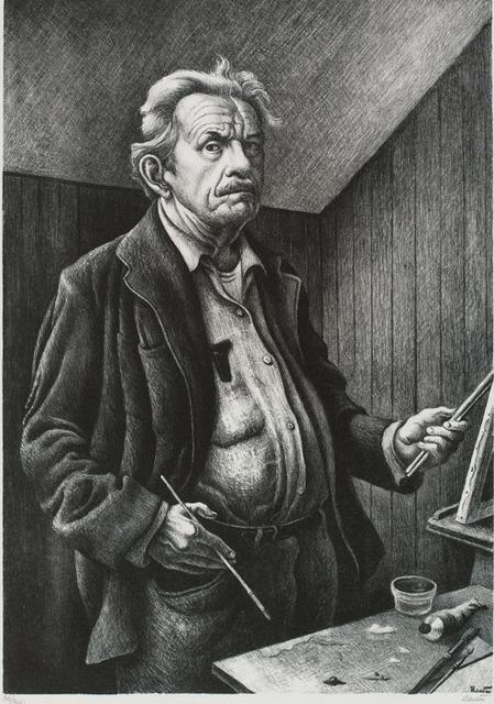 Thomas Hart Benton, 'Self Portrait', 1972, Print, Lithograph, Rachael Cozad Fine Art