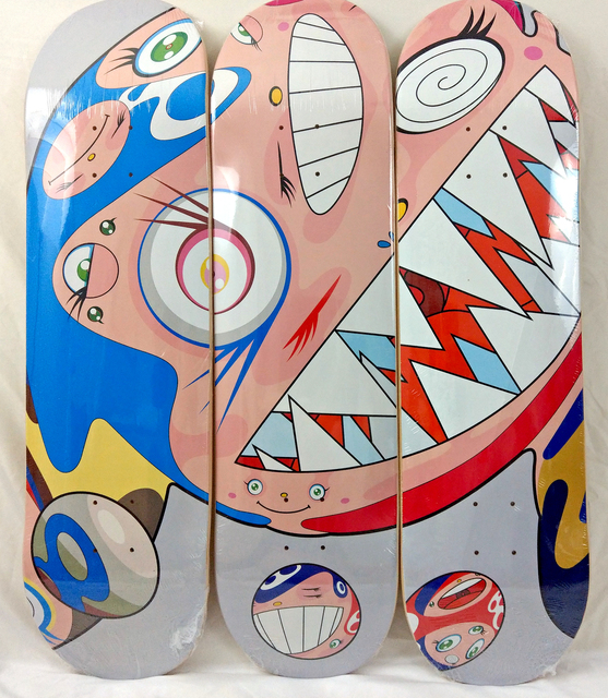 Takashi Murakami, 'Flying Dob Deck Set, Grey', 2018, Other, 3 Skate Decks, New Union Gallery