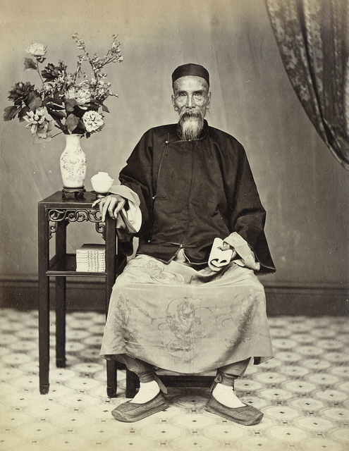 , 'Old man sitting,' 1861-1870, Taikang Space