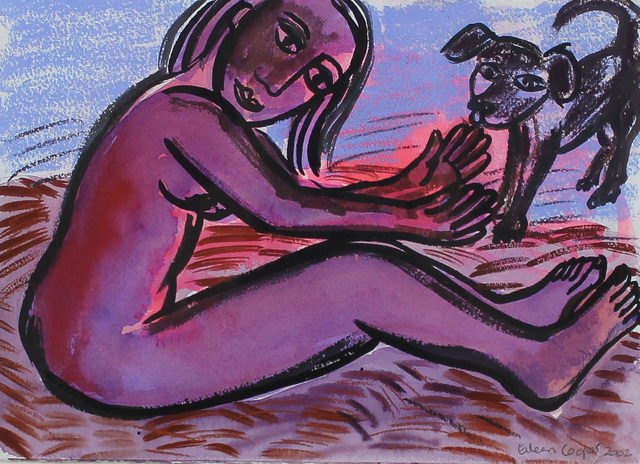 , 'Girl with Dog,' , Castlegate House Gallery
