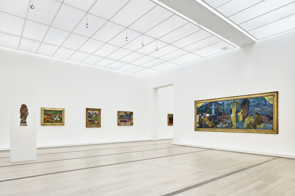 "Installation view of the exhibition ""Paul Gauguin"", Fondation Beyeler, Riehen/Basel, 2015, Photograph by Mark Niedermann"