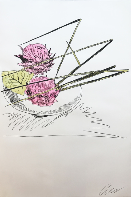 Andy Warhol, 'Hand Colored Flowers ll.116', 1974, Print, Screenprint hand-colored with dr. martin's aniline watercolor dyes on arches paper, Hamilton-Selway Fine Art Gallery Auction
