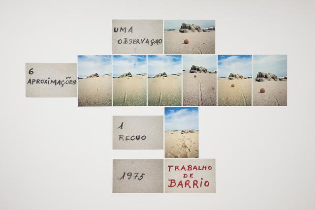 , 'Uma observação, 6 aproximações, 1 recuo,' 1975, Galeria Millan