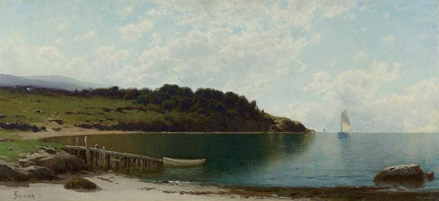 , 'Sailboats Along the Coast,' , Questroyal Fine Art