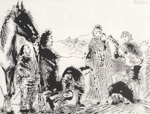 , 'Variation sue le theme de Don Quichotte et Dulcinee 2.6.68 III,' 1968, Cristea Roberts Gallery
