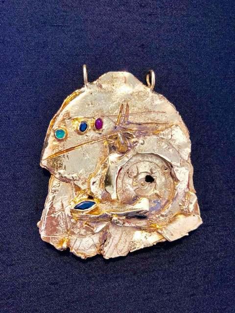 , 'Gold Gilt Bronze Sculpture Necklace Art Israeli Tumarkin Abstract Surrealist ,' 1960-1969, Lions Gallery