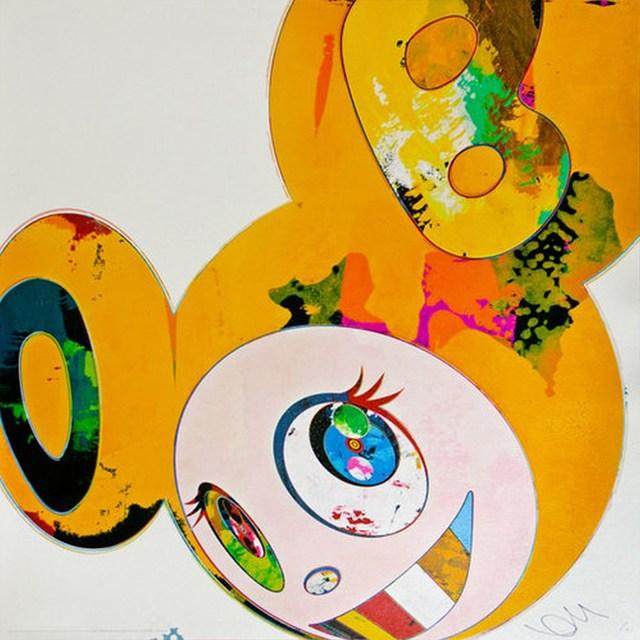 Takashi Murakami, 'And Then x6 Yellow Universe', 2013, Print, Offset lithograph, Cerbera Gallery