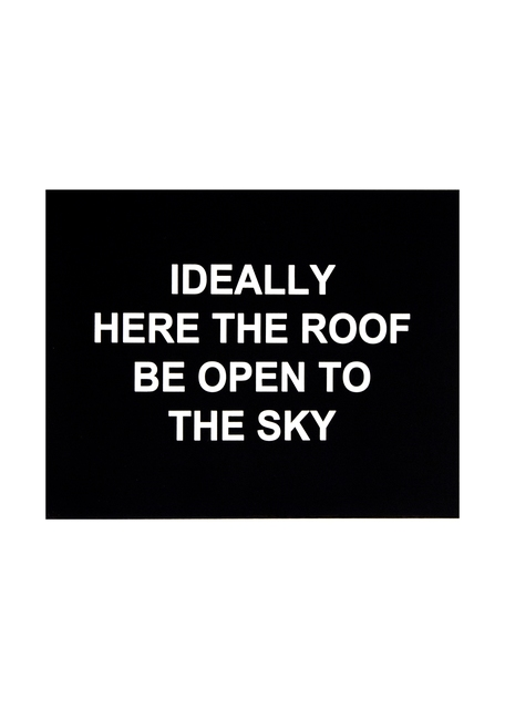, 'Ideally here the roof be open to the sky,' 2016, Polígrafa Obra Gráfica