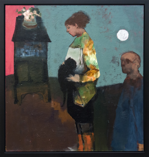 Jennifer Hornyak, 'Girl With Black Cat and Silver Moon', 2015, Oeno Gallery